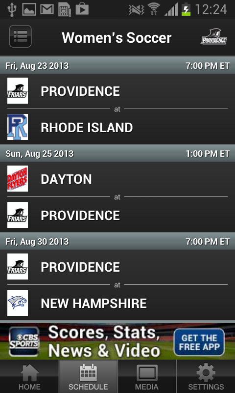Providence College Athletics - screenshot