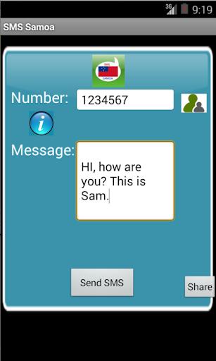 Free SMS Samoa