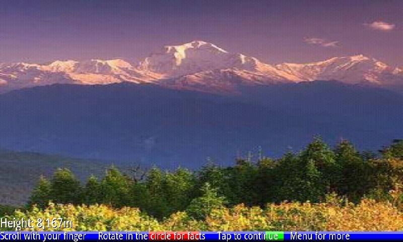 Top 10 Highest Mountains- screenshot