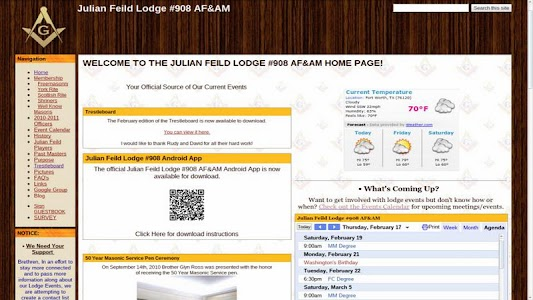 Julian Feild Lodge #908 AF&AM screenshot 0