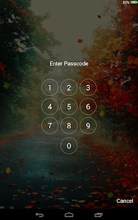 Falling Leaves Lock Screen - screenshot thumbnail