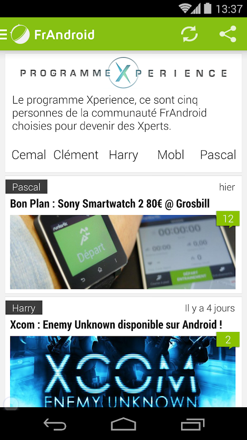 FrAndroid - screenshot