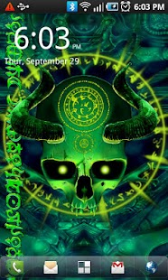 Mystical Skull Live Wallpaper - screenshot thumbnail