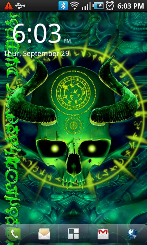 Mystical Skull Live Wallpaper - screenshot
