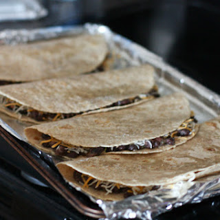 Oven Baked Black Bean and Cheese Quesadillas