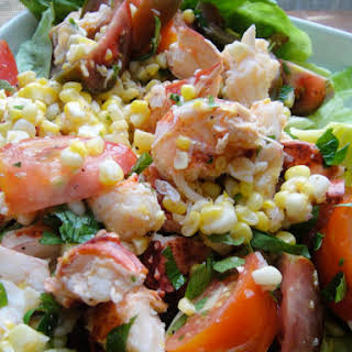 Corn, Tomato, and Lobster Salad.