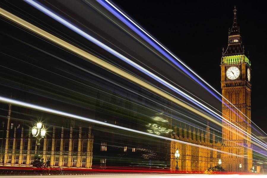 Big Ben by Jason Aspland - City,  Street & Park  Street Scenes ( canon, amazing, love, london, photographer, stunning, longexposure, photography, bigben, , city at night, street at night, park at night, nightlife, night life, nighttime in the city )