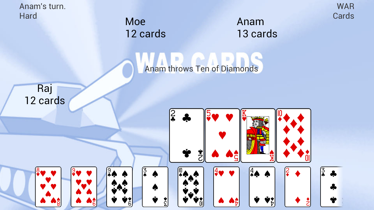 WAR Cards- screenshot
