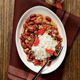 New Orleans Red Beans and Rice with Pickled Peppers