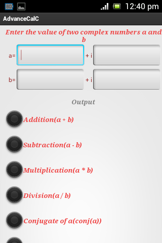 AdvanceCalC - screenshot