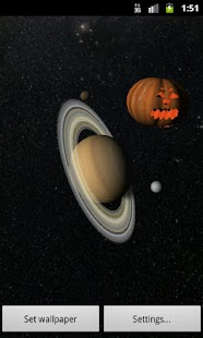Solar System 3D Wallpaper Lite - screenshot thumbnail