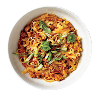 Curried Ground Shrimp and Noodles.