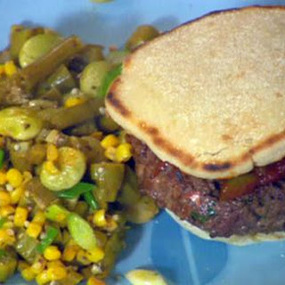 Kentucky Burgoo burgers and Southern succotash