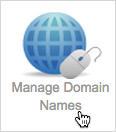 Manage Domain Names button