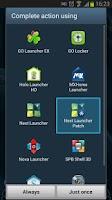 Screenshot of Next Launcher Patch