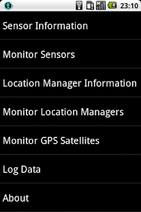 Sensor and GPS Monitor - screenshot thumbnail