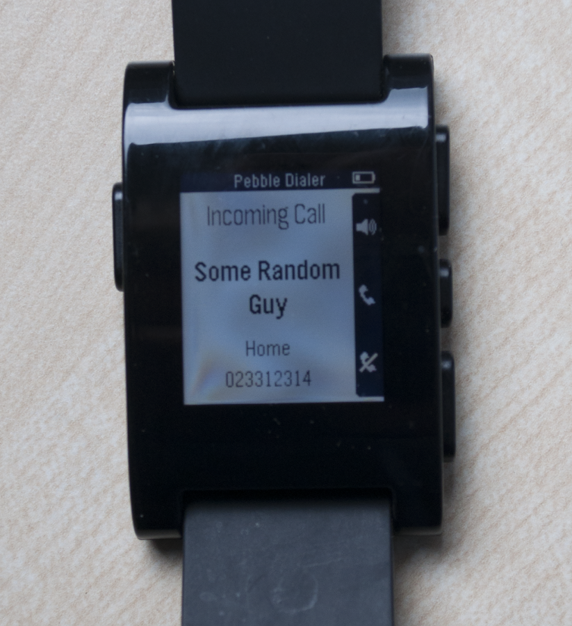 Pebble Dialer - screenshot