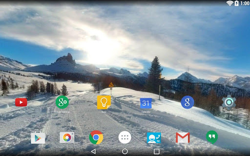 Panorama Wallpaper:Snowy Mntns
