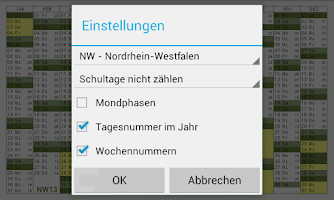 Screenshot of Schulferien 2015/2016