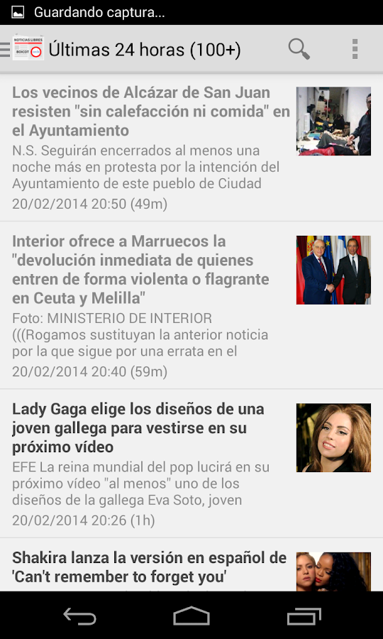 Noticias Libres (Boicot AEDE) - screenshot