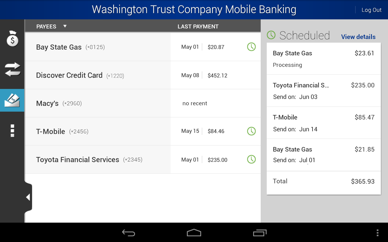 WTC Mobile Banking - screenshot