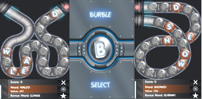 burble feature screen