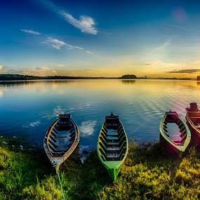 sunrise by Dugalan Poto - Transportation Boats