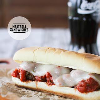 Meatball Sandwiches.