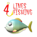 4-lines fishing icon