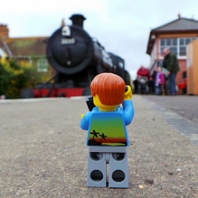 Marvin visits the Steam Trains by Parker Lord - Instagram & Mobile Android ( somerset, vintage, lord parker photography, steam train, taunton, train, lego, mobile, steam )