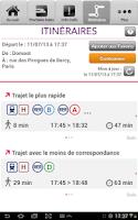 Screenshot of SNCF Transilien