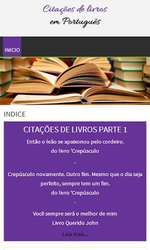 Citações de livros - Português