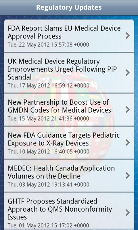 Medical Device Regulatory - screenshot