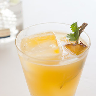Pineapple Cilantro Serrano Cocktail.