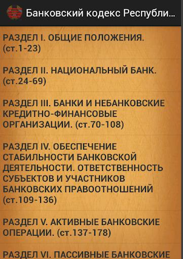 Банковский кодекс Беларусь