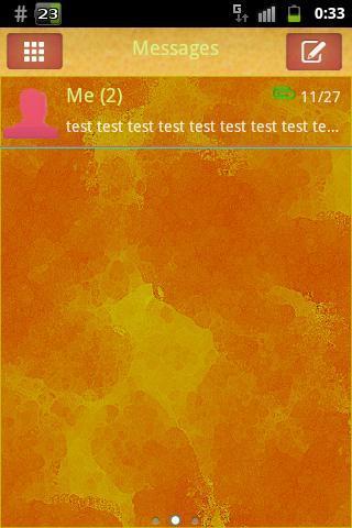 GO SMS Theme Orange Yellow Buy