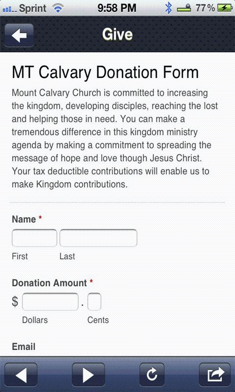 Mount Calvary Baptist Church- screenshot