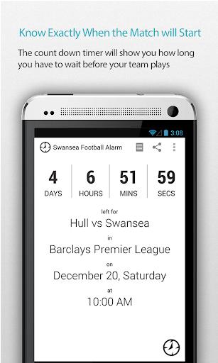 Swansea Football Alarm Pro
