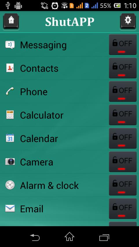 Shut APP - screenshot