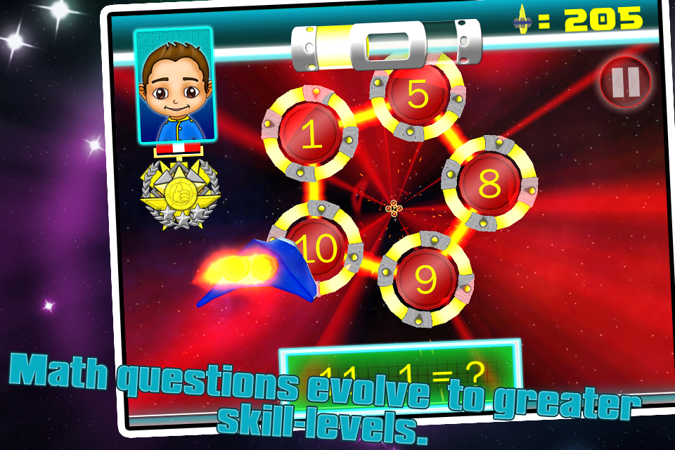 SPACE VOYAGER K,1,2 MATH FREE- screenshot