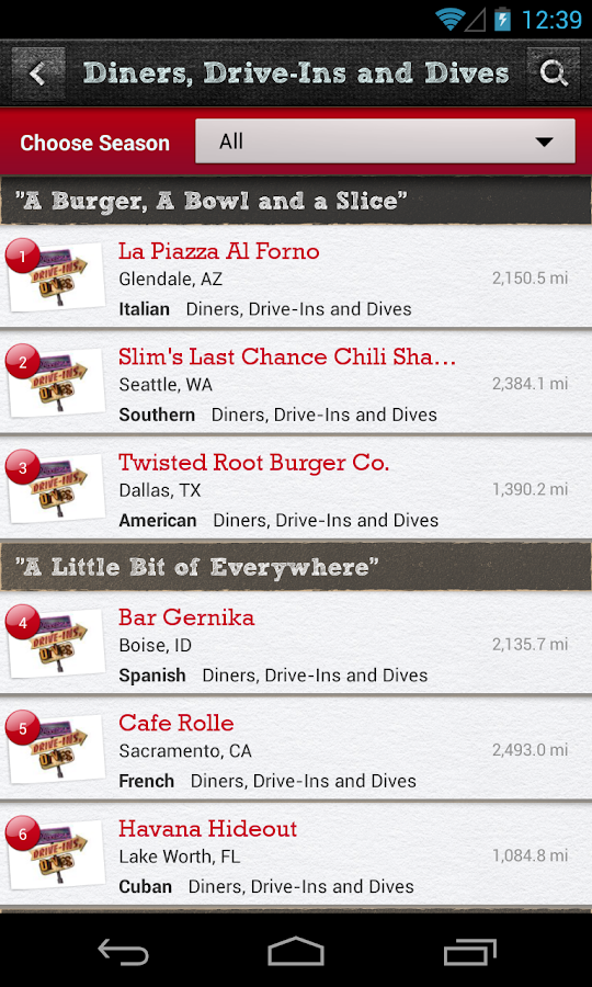 Food Network On the Road- screenshot