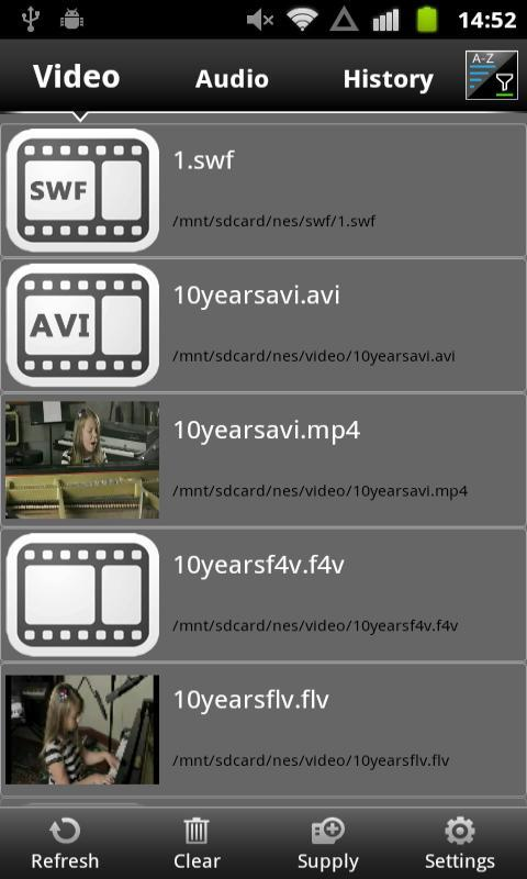 AVI F4V FLV MP4 MP3 Player - screenshot