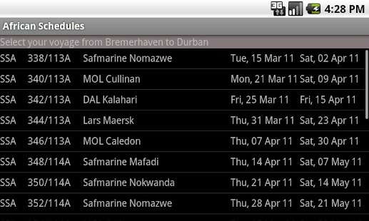 AfricanSchedules - screenshot thumbnail