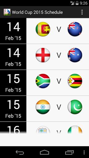 WorldCup 2015 Schedule OFFLINE