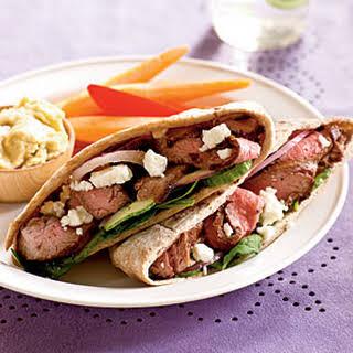 Greek Steak Pitas.