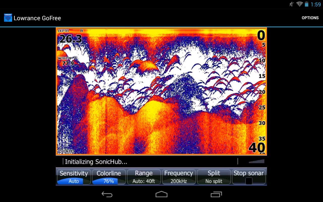 Lowrance GoFree Controller - screenshot