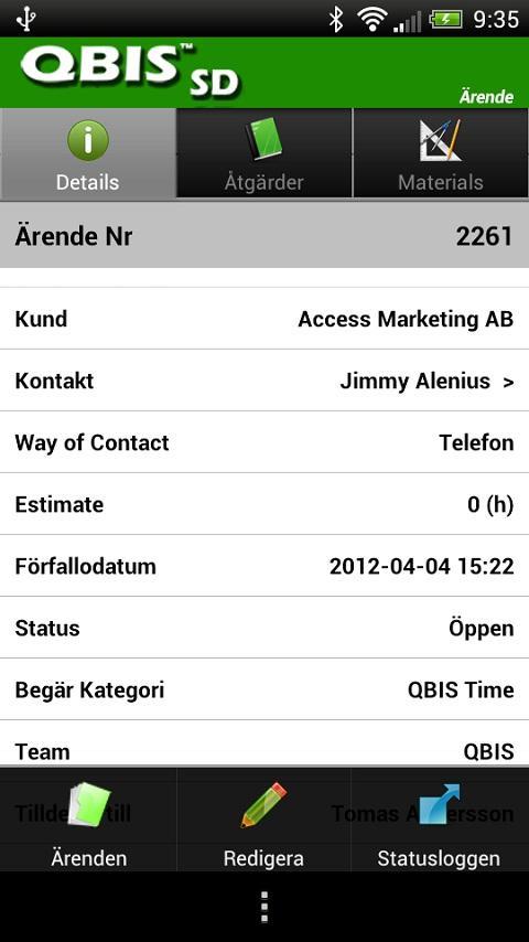 QBIS Service Desk Android- screenshot