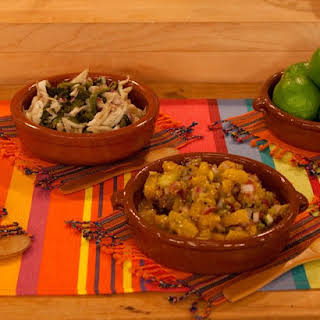 Roasted Poblano Salpicon with Mushrooms.