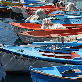 Fishing boats by Peter Janssen - Transportation Boats ( fishing boats, harbour, boats, gran canaria, water, device, transportation )
