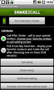 Shake2call Lite - screenshot thumbnail